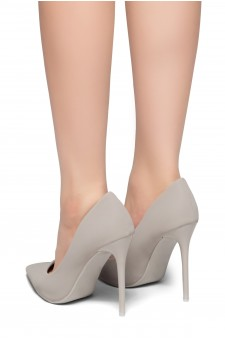 Herstyle Women's Katherina-High Heel with Lightly Pointed Toe Stiletto Heel (Grey)