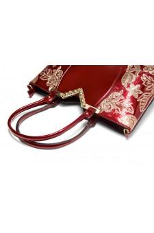 SLC-662119- High-end Patent Elegant Sequin Bag (Red)