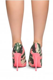 HerStyle Laurie-Camouflage Pump, stiletto heel (Fuchsia/Camouflage)