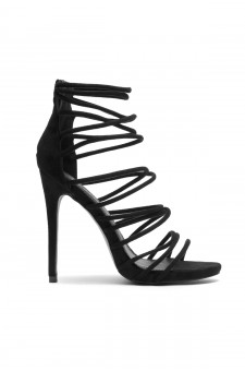 Women's Lenavia: Stiletto heel, strappy, peep toe - Black