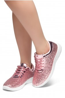 HerStyle LET'S GET LIT- lightly padded insole sneakers (Pink)