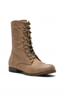 Women's Stone Mannzo Military Lace up Combat Boots