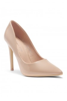 HerStyle Marneena-Women's Manmade 4-inch Sueded Heel with Lightly Pointed Toe (Blush PT)