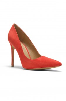 Women's Coral Manmade Marneena 4-inch Sueded Heel with Lightly Pointed Toe
