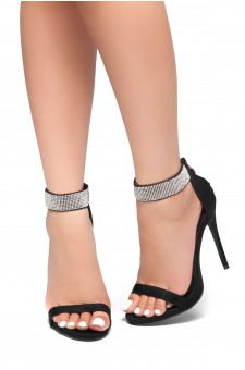 HerStyle Mesmerizing-Stiletto heel, jewel embellishments (Black)
