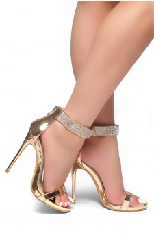 HerStyle Mesmerizing-Stiletto heel, jewel embellishments (RoseGold)