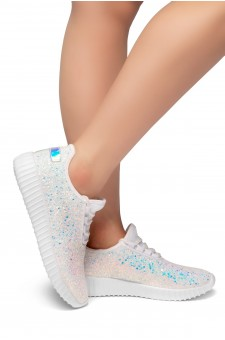 HerStyle Moniqie lightly padded insole sneakers (White)