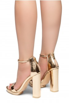 HerStyle NEW VIEW-Open Toe Chunky Heel Ankle Strap Sandals (RoseGold)