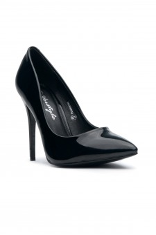Women's  Manmade Nicklenna 5-inch Pump with Sleek Pointed Toe (Black)