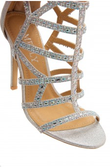 HerStyle Norta-Jewel embellishments, stiletto heel (Silver)