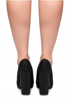 HerStyle Rilley- pointed toe, chunky heel (Black)