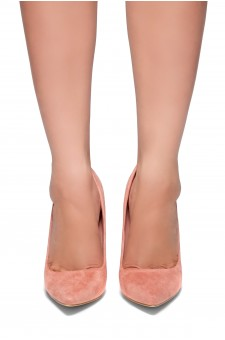 HerStyle Rilley- pointed toe, chunky heel (Blush)