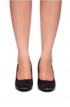 HerStyle Romy-Wedge heel, Round toe (Black)