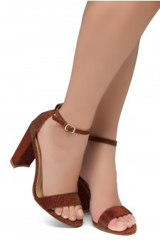 HerStyle Rosemmina Open Toe Ankle Strap Chunky Heel (1901 Burgundy)