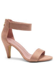 HerStyle RRose-Stiletto heel, back zipper closure (Blush)