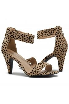 HerStyle RRose-Stiletto heel, back zipper closure (Cheetah)