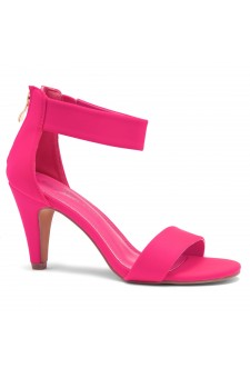 HerStyle RRose-Stiletto heel, back zipper closure (FuchsiaNeon)