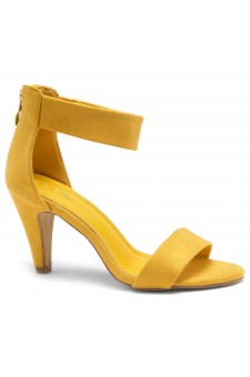 HerStyle RRose-Stiletto heel, back zipper closure (Mustard)