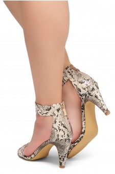 HerStyle RRose-Stiletto heel, back zipper closure (Nat/Snk)