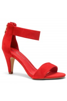 HerStyle RRose-Stiletto heel, back zipper closure (Red)
