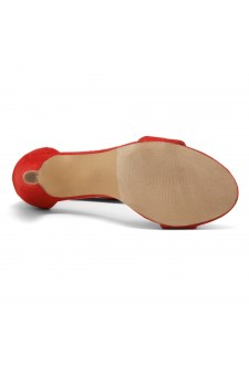 HerStyle RRose-Stiletto heel, back zipper closure (Red)