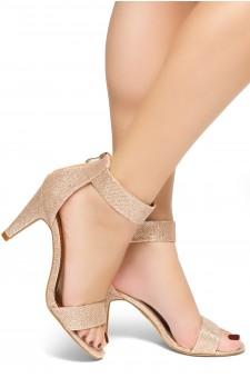 HerStyle RRose-Stiletto heel, back zipper closure (RoseGold)