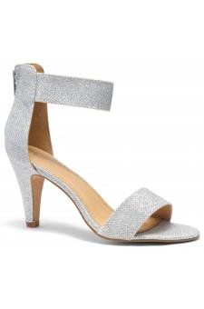 HerStyle RRose-Stiletto heel, back zipper closure (Silver)