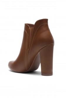 Women's Cognac Rue Elastic Gores Chunky Heel Booties