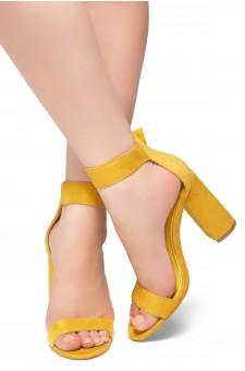 HerStyle Rumors-Chunky heel, ankle strap (Mustard)