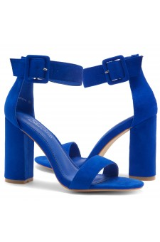 HerStyle Rumors-Chunky heel, ankle strap (RoyalBlue)