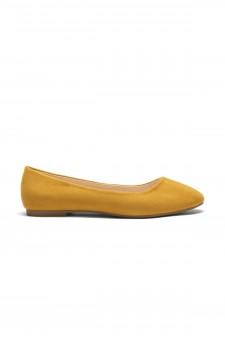 HerStyle Women's Manmade Sammba Colorful Ballet Flat (Mustard)