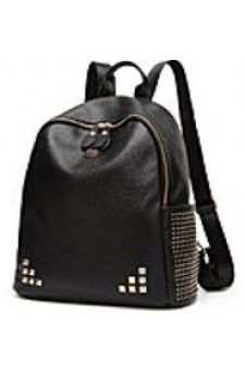 SE3-BP089- Women's Fashion Studded Backpack With Modern Style Look (Black)