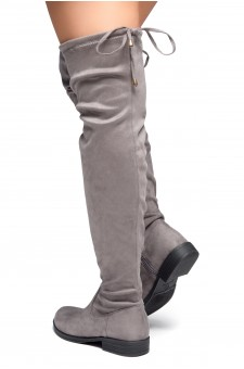 HerStyle Secret Obsession-Women's FashionThigh High Construction Casual Boots(Grey)