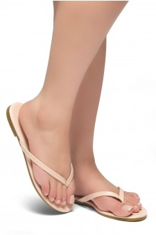 HerStyle SIONA-Easy slip-on Thong Style Flip Flops (Blush)