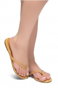 HerStyle SIONA-Easy slip-on Thong Style Flip Flops (Camel)