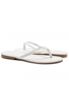 HerStyle SIONA-Easy slip-on Thong Style Flip Flops (White)