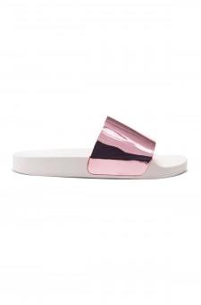 HerStyle SL-170102 Metallic Slide Sandal (Pink)