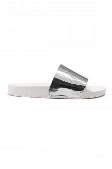 HerStyle SL-170102 Metallic Slide Sandal (Silver)