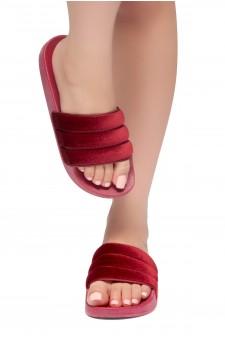 HerStyle SL-170807 Open Toe Slide Sandal (Fuchsia)