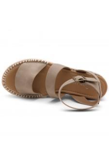 Shoe Land SL-Capri Womens Open Toe Ankle Strap Platform Sandals Causal Espadrille Wedge Shoes(Natural)