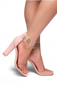 HerStyle SL-ESTORIA-Chunky heel, Perspex details (Clear Mauve)