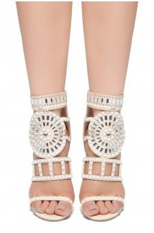 HerStyle SUNDA stiletto heel, jeweled embellishments (Nude)