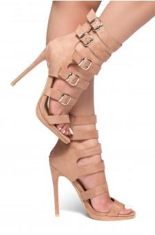 HerStyle Surie-Stiletto heel, buckle detail (Mauve)
