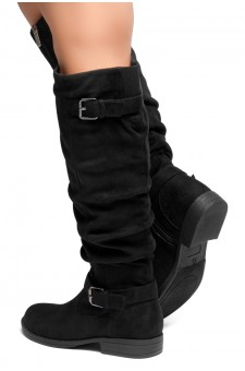 HerStyle Swagger-Women's Fashion Casual Boots (Black)