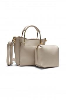 SYL-180- Mini top handle handbag with matching bag (Brown)