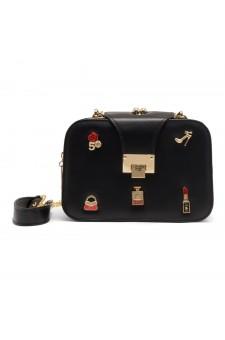 SZ15-LH2-16482 - Women's Trendy Fashion Crossbody Bag (Black)