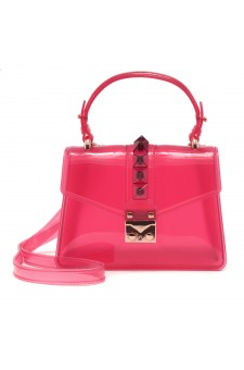 SZ17-LH2-16574 - Women's PVC Jelly Top Handle Bag (Red)