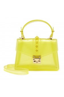 SZ17-LH2-16574 - Women's PVC Jelly Top Handle Bag (Yellow)