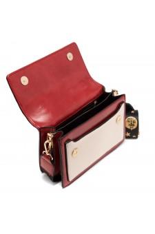 SZ17-LH2-16682 - Women's Fashion Design Top Handle Bag (Red/White)