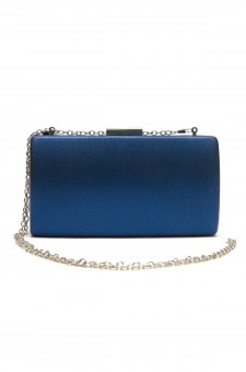 SZ9-16197- Georgeous classic look of hard case evening bag (Blue)